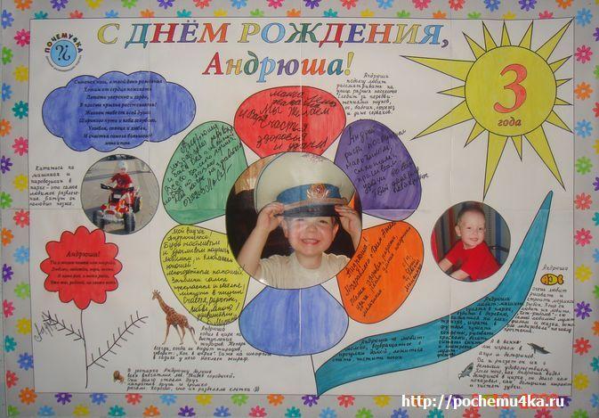 Как оформить своими руками плакат в день рождения