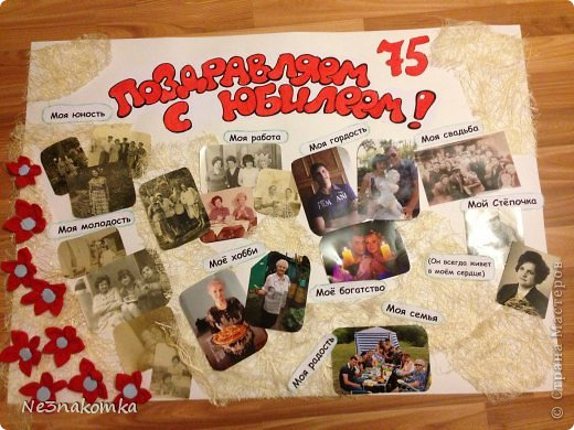 Плакаты своими руками на юбилей 55